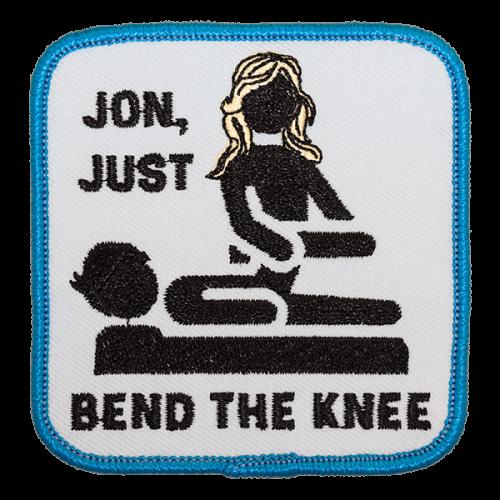 Bend the knee-haalarimerkki
