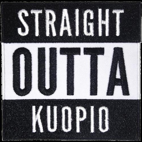 Straight outta Kuopio-haalarimerkki