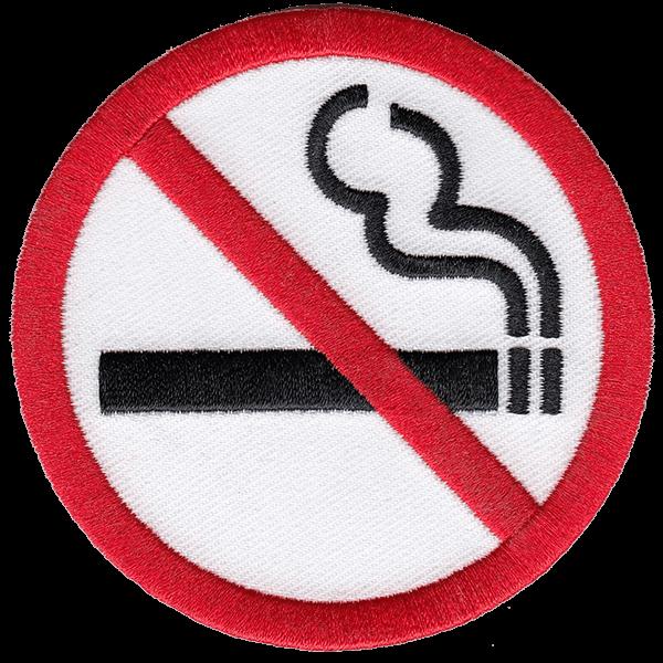 No smoking - haalarimerkki