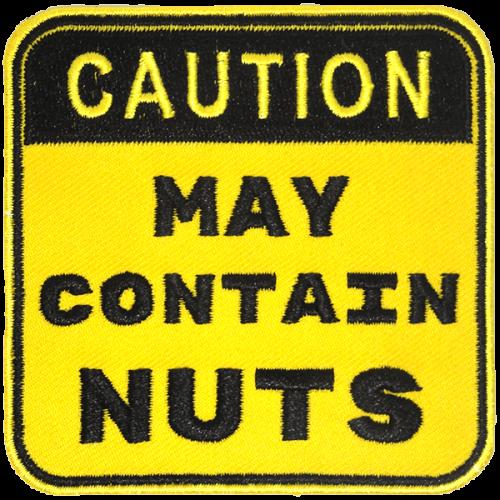 May contain nuts-haalarimerkki