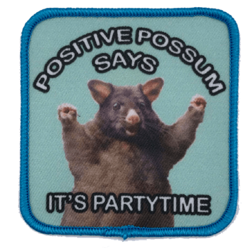 Positive possum-haalarimerkki