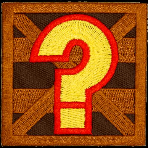 Question Box-haalarimerkki