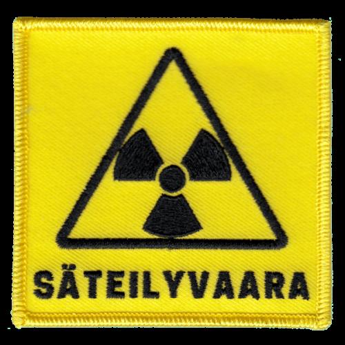 Säteilyvaara-haalarimerkki