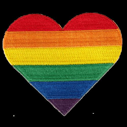 Rainbow heart-haalarimerkki