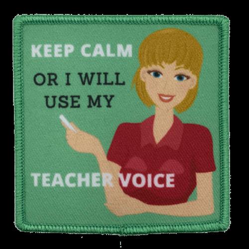 Teacher voice-haalarimerkki
