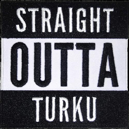 Straight outta Turku-haalarimerkki